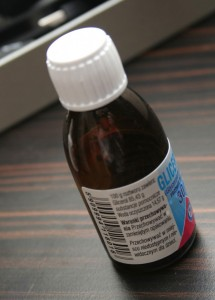 a bottle of nicotine liquid