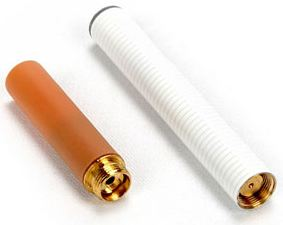 two white e-cigarettes