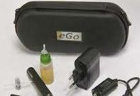 ego e-cigarette with an eliquid
